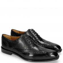 Oxford Schuhe Jacob 1 Black Lining Rich Tan