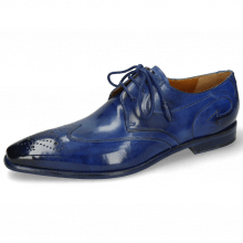 Derby Schuhe Elvis 63 Electric Blue Lining