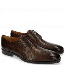 Derby Schuhe Greg 4 Berlin Perfo Dark Brown