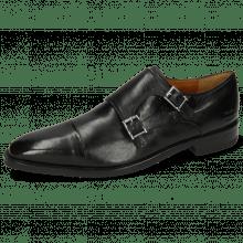 Monk Schuhe Freddy 1 Remo Black Modica Navy