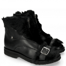 Stiefeletten Greta 4 Nappa Black Fur Long Black