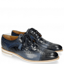 Derby Schuhe Henry 7 Navy Wind Sky Blue Woven Navy Modica White
