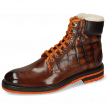 Stiefeletten Trevor 35 Mogano Fluo Orange Turtle Wood Fur