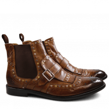 Stiefeletten Eddy 21 Milano Wood Mixed Rivets Elastic Brown LS Brown