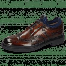 Derby Schuhe Ron 2 Wood Net Lycra Navy