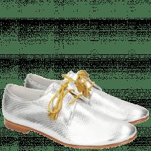 Derby Schuhe Monica 2 Glitter Silver