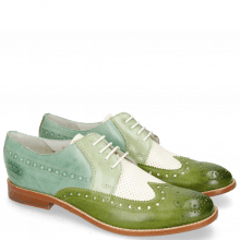 Derby Schuhe Amelie 20 Vegas Ultra Perfo White Algae Sweet Green