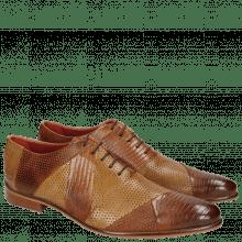 Oxford Schuhe Toni 20 Guana Venice Perfo Tan Sand