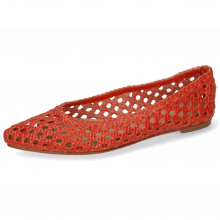 Ballerinas Alexa 16  Open Woven Red