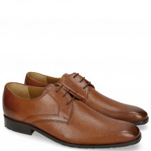 Derby Schuhe Xander 1 Rio Perfo Tan