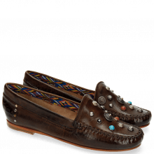 Loafers Bridget 1 Milano Dark Brown Rivets