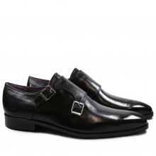 Monk Schuhe Lance 10 Crust Black LS Black