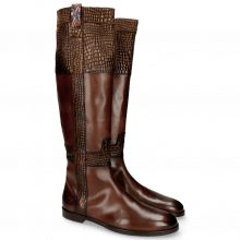 Stiefel Susan 42 Mogano Wellington Gold Brown