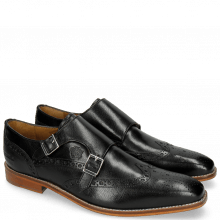 Monk Schuhe Martin 2 Venice Black LS Brown