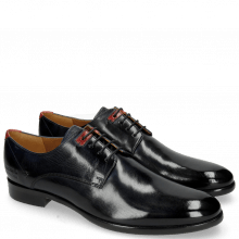 Derby Schuhe Clint 1 Navy Deco Pieces Ruby