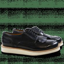 Derby Schuhe Kelly 13 Brush Blue XL Malden White Rubber Black