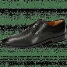 Derby Schuhe Alex 1 Venice Pebble Black