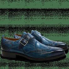 Monk Schuhe Nicolas 2 Ice Blue Shade & Lines Navy HRS