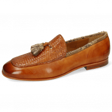 Loafers Clive 21 Imola Woven Tan Binding Snake Sand