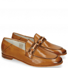 Loafers Scarlett 45 Glove Nappa Tan Strap Orange
