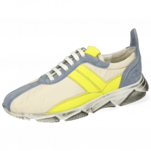Sneakers Briana 1 Suede Fante Funky Beige Fluo Yellow