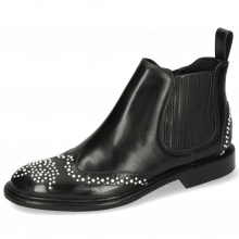 Stiefeletten Sally 46 Rubber Black Rivets White