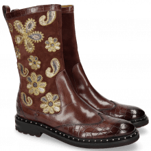 Stiefel Amelie 39 Crock Lima Wine Embrodery Paisley