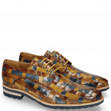 Derby Schuhe Brad 7 Woven Multi Wood Wind Nude Olivine