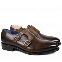 Monk Schuhe Charles 9 Crust Dark Brown LS