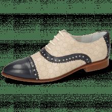 Derby Schuhe Jessy 54 Nappa Glove Deep Navy Cream