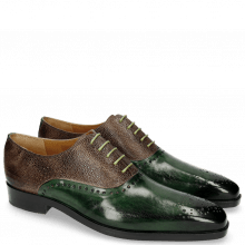 Oxford Schuhe Lewis 41 Prato Scotch Grain New Taupe