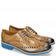Derby Schuhe Amelie 6 Nude Shade Electric Blue