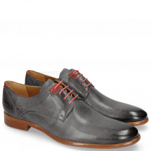Derby Schuhe Clint 1 Pavia Navy Deco Pieces Red