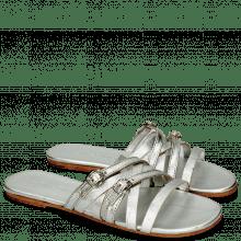 Pantoletten Colette 5 Cherso Silver