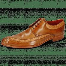 Derby Schuhe Toni 36 Woven Powder Arancio Tan