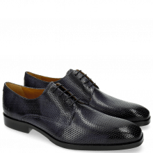 Derby Schuhe Greg 4 Berlin Perfo Navy