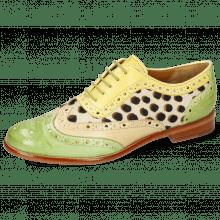 Oxford Schuhe Selina 56 Vegas Verde Chiaro Beige Margarine Hairon Wildcat
