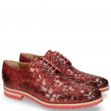 Derby Schuhe Brad 7 Woven Ruby Lining Rich Tan