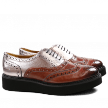 Oxford Schuhe Molly 2 Classic Rose Salerno Metalic Rose Gold XL Ginger Black