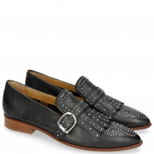 Loafers Jessy 26 Pavia Black Lining Rich Tan