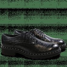 Derby Schuhe Sissy 1 Crock Black Rivets