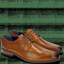Derby Schuhe Rico 4 Rio Perfo Tan