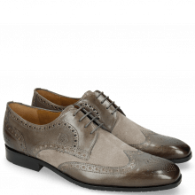 Derby Schuhe Rico 2 Rio Grigio Suede Pattinni Marmotta