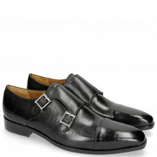 Monk Schuhe Lance 1 Black Lining Rich Tan