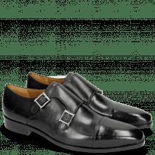 Monk Schuhe Lance 1 Black Lining Rich Tan