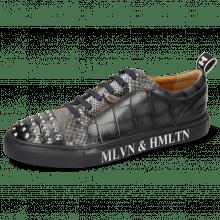 Sneakers Harvey 12 Vegas Turtle Glicine Suede Pattini Stone Dafne Conchiglia