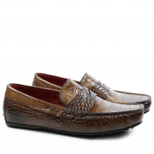 Loafers Driver 8 Croco Dark Brown RS