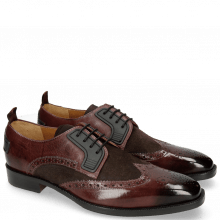 Derby Schuhe Jeff 32 Mokka Suede Pattini Brown