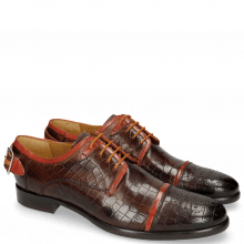 Derby Schuhe Clint 4 Crock Mid Brown Deco Pieces
