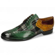 Derby Schuhe Clint 19 Pine Textile Crayon Olivine Wine